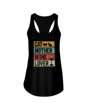 CAT MOTHER WINE LOVER Ladies Flowy Tank thumbnail