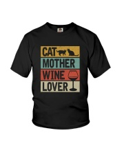 CAT MOTHER WINE LOVER Youth T-Shirt thumbnail