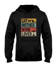 CAT MOTHER WINE LOVER Hooded Sweatshirt thumbnail