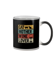CAT MOTHER WINE LOVER Color Changing Mug thumbnail