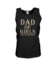DAD OF GIRLS OUTNUMBERED Unisex Tank thumbnail