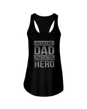HUUSBAND DAD PROTECTOR HERO Ladies Flowy Tank thumbnail