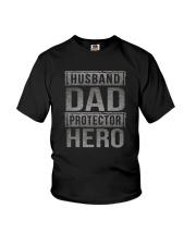 HUUSBAND DAD PROTECTOR HERO Youth T-Shirt thumbnail