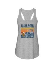 LIKE BEER AND TRACTORS Ladies Flowy Tank thumbnail