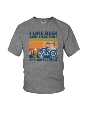 LIKE BEER AND TRACTORS Youth T-Shirt thumbnail