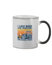 LIKE BEER AND TRACTORS Color Changing Mug tile