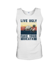 LIVE UGLY FAKE YOUR DEATH VINTAGE Unisex Tank thumbnail