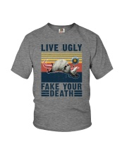 LIVE UGLY FAKE YOUR DEATH VINTAGE Youth T-Shirt thumbnail