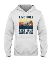 LIVE UGLY FAKE YOUR DEATH VINTAGE Hooded Sweatshirt thumbnail