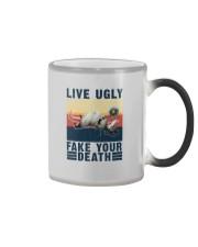 LIVE UGLY FAKE YOUR DEATH VINTAGE Color Changing Mug thumbnail
