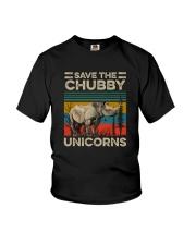 SAVE THE CHUBBY UNICORNS VINTAGE Youth T-Shirt thumbnail