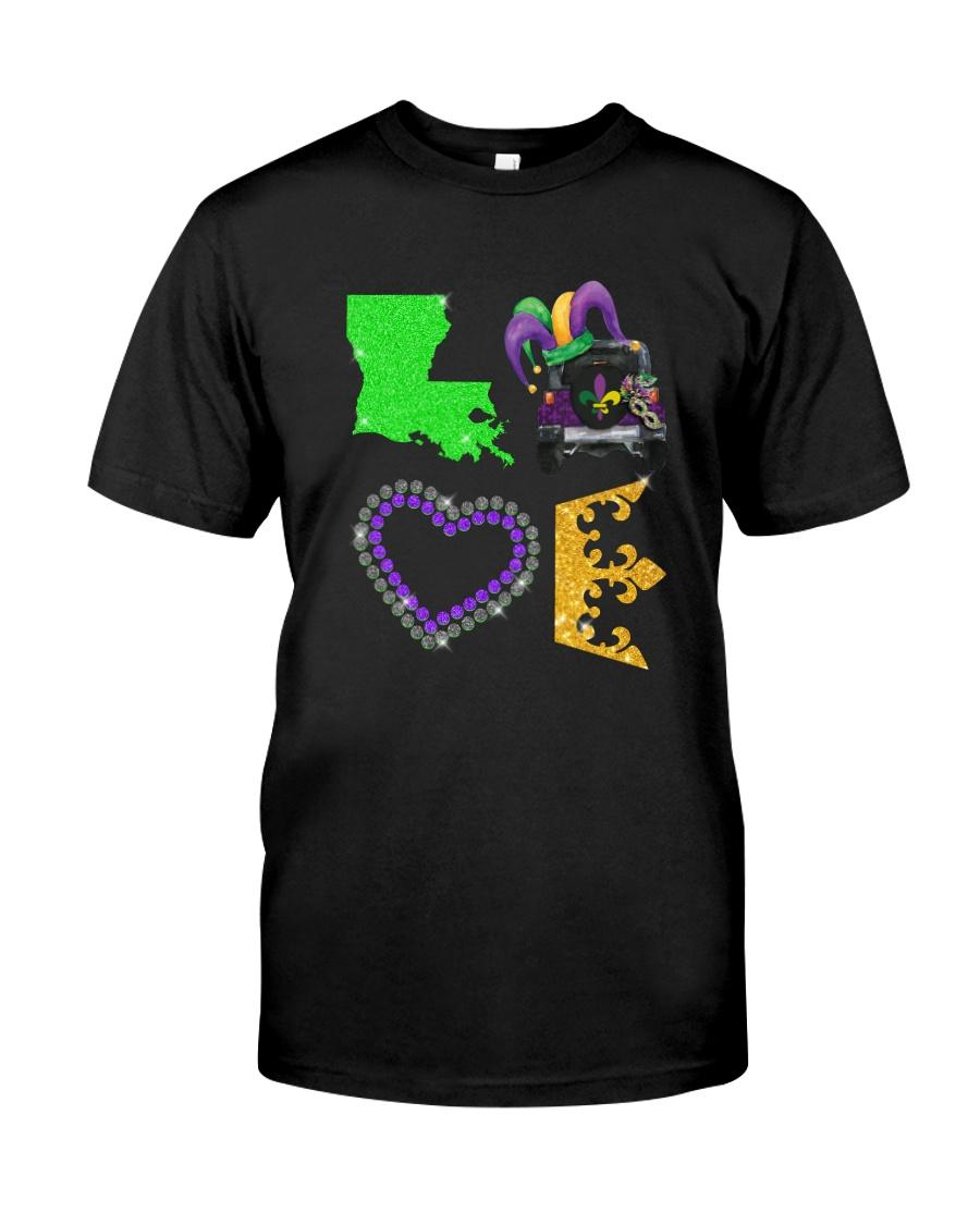 LOVE MARDI GRAS JEEP Classic T-Shirt