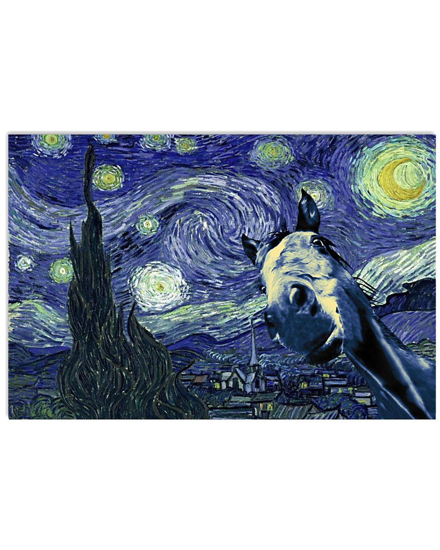 STARRY NIGHT HORSE 24x16 Poster