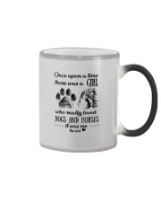 A GIRL WHO REALLY LOVED DOGS AND HORSES Color Changing Mug thumbnail