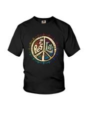 PEACE LOVE HIPPIE Youth T-Shirt thumbnail