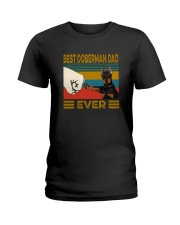 BEST  Doberman DAD EVER Ladies T-Shirt thumbnail
