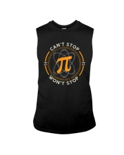 CAN'T STOP WON'T STOP PI FUNNY MATH Sleeveless Tee thumbnail