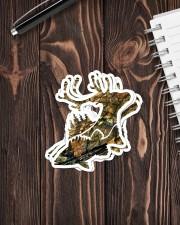 FISH DEER Sticker - 4 pack (Vertical) aos-sticker-4-pack-vertical-lifestyle-front-05