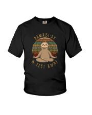 NAMAST'AY 6 FEET AWAY SLOTH Youth T-Shirt thumbnail