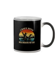 I HAVE BEEN SOCIAL DISTANCING FOR YEARS VINTAGE Color Changing Mug thumbnail