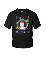 STAY OUT OF MY BUBBLE Unicorn Youth T-Shirt thumbnail
