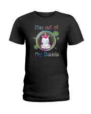 STAY OUT OF MY BUBBLE Unicorn Ladies T-Shirt thumbnail