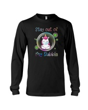 STAY OUT OF MY BUBBLE Unicorn Long Sleeve Tee thumbnail