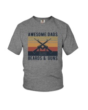 AWESOME DADS HAVE BEARDS AND GUNS Youth T-Shirt thumbnail