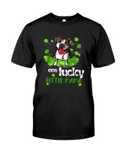 ONE LUCKY PITBULL MAMA Classic T-Shirt front