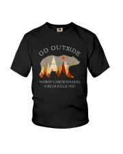 GO OUTSIDE A BEAR KILLS YOU Youth T-Shirt thumbnail