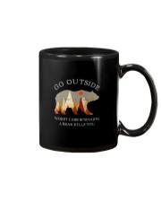 GO OUTSIDE A BEAR KILLS YOU Mug thumbnail
