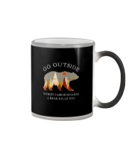 GO OUTSIDE A BEAR KILLS YOU Color Changing Mug thumbnail