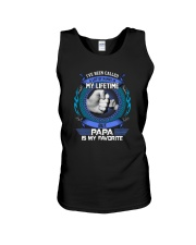 PAPA IS MY FAVORITE Unisex Tank thumbnail
