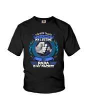 PAPA IS MY FAVORITE Youth T-Shirt thumbnail