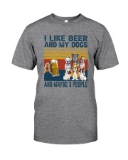 I LIKE BEER AND MY DOGS Classic T-Shirt front