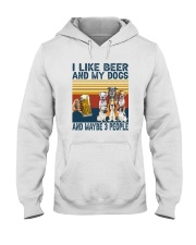 I LIKE BEER AND MY DOGS Hooded Sweatshirt thumbnail
