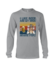 I LIKE BEER AND MY DOGS Long Sleeve Tee thumbnail