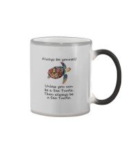 UNLESS YOU CAN BE A SEA TURTLE BE A SEA TURTLE Color Changing Mug thumbnail