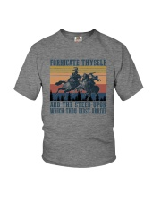 AND THE STEED UPON WHICH THOU DIDST ARRIVE Youth T-Shirt thumbnail