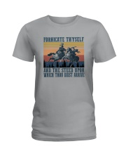 AND THE STEED UPON WHICH THOU DIDST ARRIVE Ladies T-Shirt thumbnail