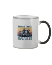 AND THE STEED UPON WHICH THOU DIDST ARRIVE Color Changing Mug thumbnail