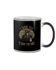 PLAGUE DOCTOR I WANT YOU TO WASH YOUR HANDS Color Changing Mug thumbnail