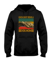 KINDA BUSY BEING A DOG MOM Hooded Sweatshirt thumbnail