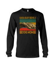 KINDA BUSY BEING A DOG MOM Long Sleeve Tee tile
