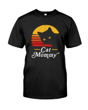 CAT MOMMY VINTAGE Classic T-Shirt front