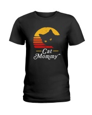 CAT MOMMY VINTAGE Ladies T-Shirt thumbnail