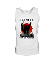 CATZILLA KING OF PAWSTER Unisex Tank tile