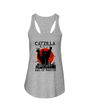 CATZILLA KING OF PAWSTER Ladies Flowy Tank thumbnail