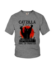 CATZILLA KING OF PAWSTER Youth T-Shirt thumbnail