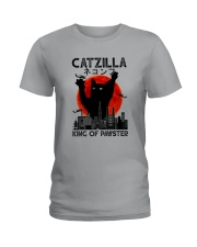CATZILLA KING OF PAWSTER Ladies T-Shirt thumbnail